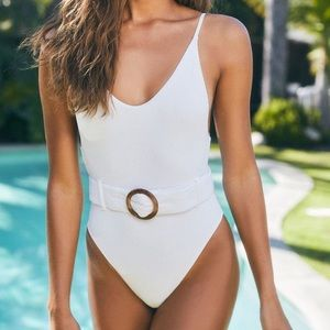 PacSun Charlie Holiday - One Piece White Swimsuit